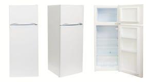 Refrigerador en tres posiciones, aisladas fotografía de archivo libre de regalías