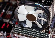 Refrigerador grande da torre para a unidade do processador central Foto de Stock Royalty Free