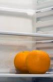 Refrigerador interior Foto de archivo libre de regalías