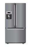 Refrigerador metálico Imagem de Stock Royalty Free
