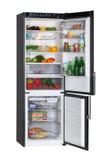Refrigerador negro Foto de archivo