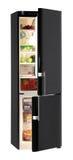 Refrigerador negro Imagenes de archivo