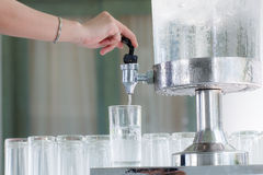 Refrigerador para a água fria fotos de stock royalty free