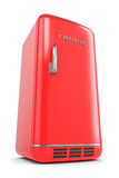 Refrigerador retro rojo Imagenes de archivo