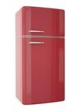 Refrigerador rojo Imágenes de archivo libres de regalías