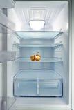 Refrigerador vazio fotografia de stock