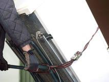 Refrigerador velho movente foto de stock royalty free
