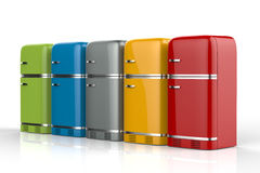 Refrigeradores em seguido Foto de Stock Royalty Free