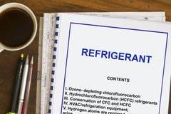 Refrigerant Royalty Free Stock Photos