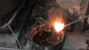 Refrigerar do boleto quente no óleo filme