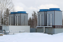 Refrigerar industrial complexo Imagens de Stock