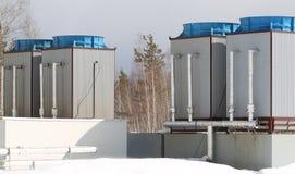 Refrigerar industrial complexo Imagem de Stock Royalty Free