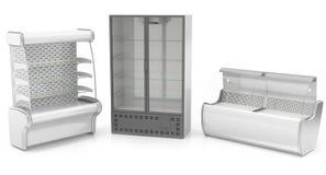Refrigerated шкафы иллюстрация вектора