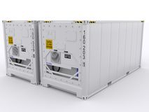 Refrigerated container Royalty Free Stock Image