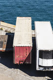 Refrigerated container and other types of containers Royalty Free Stock Photos