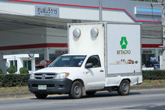 Refrigerated container Pickup truck of Betagro Company. Royalty Free Stock Photos