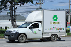 Refrigerated container Pickup truck of Betagro Company. Royalty Free Stock Photography