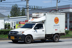 Refrigerated container Pickup truck of Cp Company. Royalty Free Stock Photos