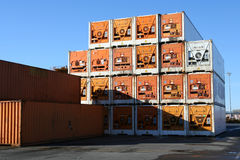 Refrigerated Containers royalty free stock photography