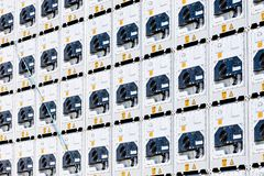 Refrigerated containers royalty free stock photos