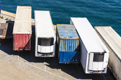 Refrigerated containers and other types of containers Royalty Free Stock Photography