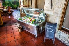 Refrigerated Fishes and Seafood royalty free stock photos