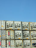 Refrigerated shipping containers Stock Photo