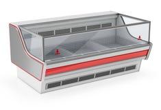 Refrigerated showcase display Stock Photo