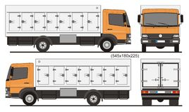 Refrigerated Truck 7 side doors Royalty Free Stock Photo