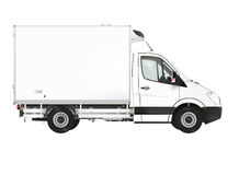Refrigerated truck. On the white background. Raster illustration Royalty Free Stock Image
