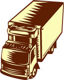 Refrigerated Truck Woodcut Royalty Free Stock Images