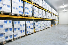 Refrigerated warehouse Royalty Free Stock Photography