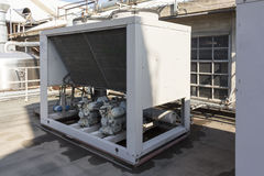 Refrigerating unit for realization chilled water Royalty Free Stock Photo