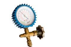 Refrigeration low pressure gauge Stock Photo