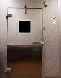 Refrigeration Unit Door. Restaurants refrigeration unit's door Royalty Free Stock Photo