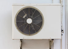 Refrigeration. Was installed in the building wall Stock Photography