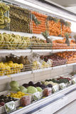 Refrigerator. Section of fruit and vegetables in supermarkets Royalty Free Stock Photography
