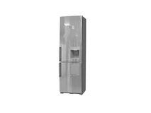 Refrigerator. The image of refrigerator under the white background Royalty Free Stock Images