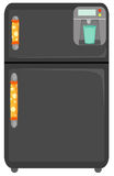 Refrigerator. Illustration of isolated refrigerator on white background vector illustration