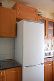 Refrigerator. The big and white refrigerator royalty free stock photo