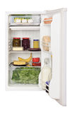Refrigerator. Opened refrigerator full of foodstuff Royalty Free Stock Photos
