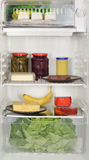 Refrigerator. Full of refrigerated food Stock Photography