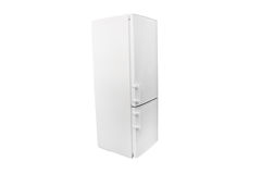 Refrigerator. The image of white refrigerator under the white background Stock Images