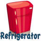 Refrigerator. Illustration of isolated letter of refrigerator on white background Royalty Free Stock Photography