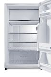 Refrigerator. Small refrigerator in white background Stock Images