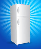 Refrigerator. Vector refrigerator on retro background stock illustration