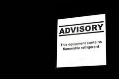 Refrigerator Advisory Label Royalty Free Stock Image