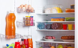 Refrigerator with food Royalty Free Stock Photos