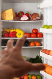 Refrigerator with food Royalty Free Stock Photography