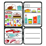 Refrigerator with food Stock Photography